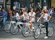 Promoting bicycles & reducing congestion