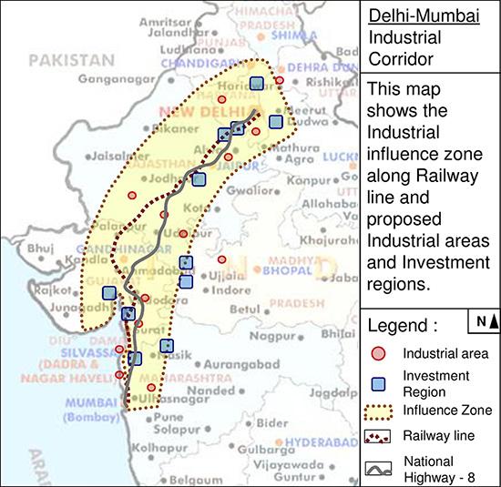 delhi mumbai industrial corridor The goliath driving this expansion is the us $1bn delhi mumbai industrial corridor (dmic), touted as the world's largest infrastructure project.