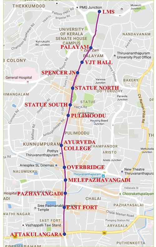 Map-of-M.G-Road-in-Thiruvananthapuram-city