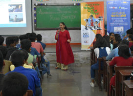 Road Safety Awareness Competition at Bharat College