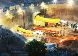 Tunnel project in India